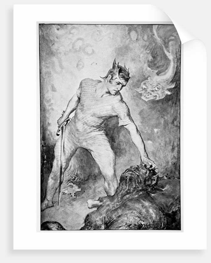Beowulf shears off the head of Grendel by John Henry Frederick Bacon