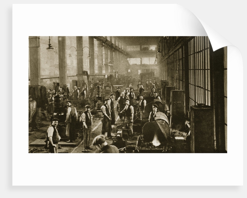 A blacksmith's shop at Beckton Gas Works by Anonymous