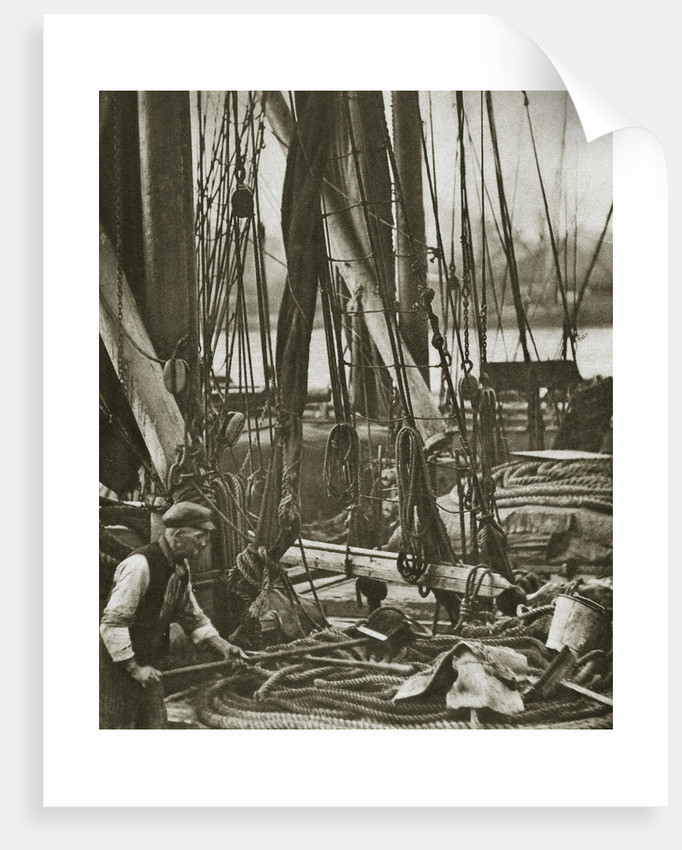 At the foot of the mast on a Thames Barge by Anonymous