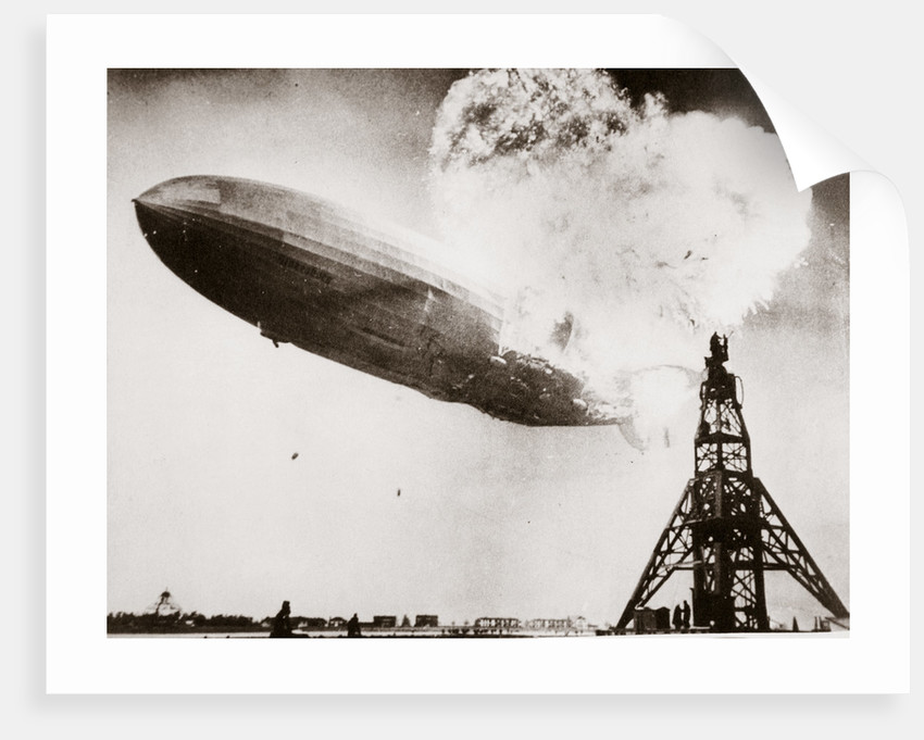 The German airship 'Hindenburg' blows up by Anonymous