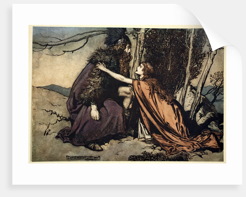 Father! Father! Tell me what ails thee? With dismay thou art filling thy child! by Arthur Rackham