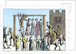 An execution of witches in England by Anonymous