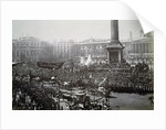 Queen Victoria in Trafalgar Square during her Golden Jubilee celebrations by Anonymous