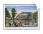 Chinese House, Rotunda and the company in masquerade by John Bowles