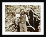 Australian aborigine with a boomerang by Anonymous