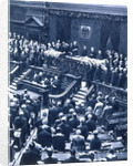 Swearing-in ceremony of President Field Marshal von Hindenburg by Anonymous