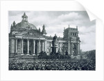 Philipp Scheidemann announcing the creation of a new German republic by Anonymous