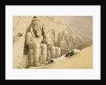 The Great Temple of Abu Simbel, Nubia by David Roberts