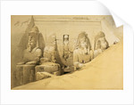 Front elevation of the Great Temple of Abu Simbel, Nubia by Louis Haghe