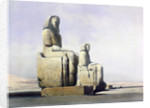 Detail of the Colossi of Memnon by Louis Haghe
