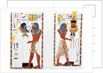 Two murals from the tombs of the Kings of Thebes, discovered by G Belzoni by Anonymous