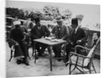 Lord Carnarvon with Egyptian officials by Harry Burton