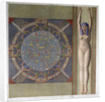 Zodiac ceiling from the grand Temple at Denderah by Jollois and Devilliers