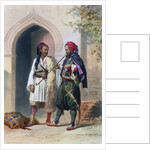 Arnaout and Osmanli soldiers in Alexandria by Mouilleron