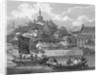 Detail of a view of the gardens of the Imperial Palace by Samuel Smith