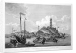 View of the Tchin Shan, or Golden Island, in the Yang-tse Kiang, or Great River of China by Wilson