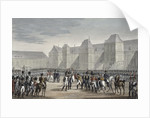 The abdication of Napoleon and his departure from Fontainebleau for Elba by Francois Pigeot