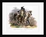 A Blackfoot Indian on horseback by Leopold Beyer