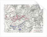 Map of the Battle of Waterloo by Alexander Keith Johnston