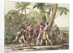 Christopher Columbus with Native Americans by DK Bonatti