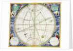 Map charting the movement of the Earth and Planets by Andreas Cellarius