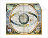 Map showing Tycho Brahe's system of planetary orbits around the Earth by Andreas Cellarius