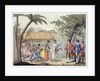 Captain Samuel Wallis being received by Queen Oberea on the Island of Tahiti by Gallo Gallina