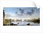 Old London Bridge by Claude Jongh