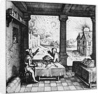 An astrologer casting a horoscope by Anonymous