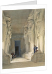 Excavated temple of Gyrshe by David Roberts