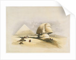 The Great Sphinx and the Pyramids of Giza by David Roberts