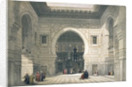 Interior of the Mosque of Sultan Hassan by David Roberts
