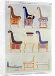 Ancient Egyptian furniture by Pomel