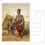 Turkish foot soldiers in the Ottoman army by Amadeo Preziosi