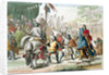 Knights duelling on foot in a tournament by G Lago
