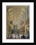 Queen Victoria and Prince Albert at a service in St George's Chapel by James Baker Pyne