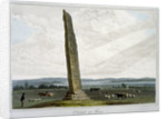 Obelisk at Forres by William Daniell