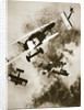 Dogfight between British and German aircraft by Anonymous