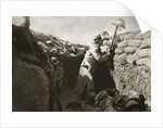 A Royal Irish Fusilier teases a Turkish sniper by Anonymous