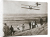 The Wright Brothers testing an early plane at Kitty Hawk by Anonymous
