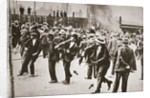 Riot during a strike by Standard Oil workers by Anonymous