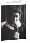 Emma Goldman, Russian-born American anarchist and agitator by Anonymous