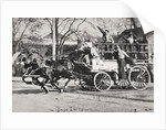 Horse-drawn fire engine by Anonymous