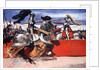 Maximilian I, Holy Roman Emperor, jousting at a tournament by Arthur C. Michael