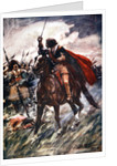 Albrecht von Wallenstein at the Battle of Lutzen by Arthur C. Michael