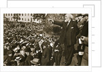Keir Hardie speaking at a peace rally in Trafalgar Square by S and G