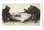 Hauling one of the 'Lusitania's' lifeboats onto the beach by Clarke & Hyde