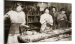 Women working in a boot repairing factory by S and G
