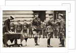 King George V awarding the Victoria Cross to Private Wilfred Edwards by Anonymous