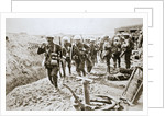 A British wiring party going up to the trenches by Anonymous